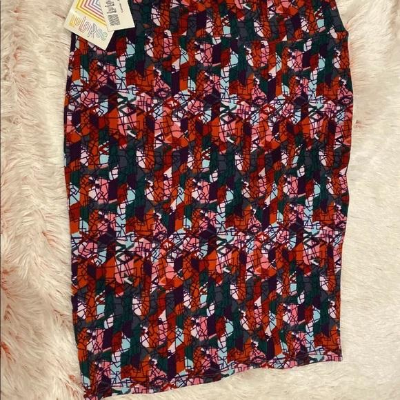 NWT Lularoe Cassie  Skirt Multi Color